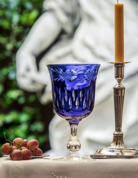 Copa Maestra azul doblada